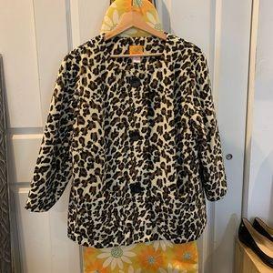 Ruby Road Leopard Swing Jacket